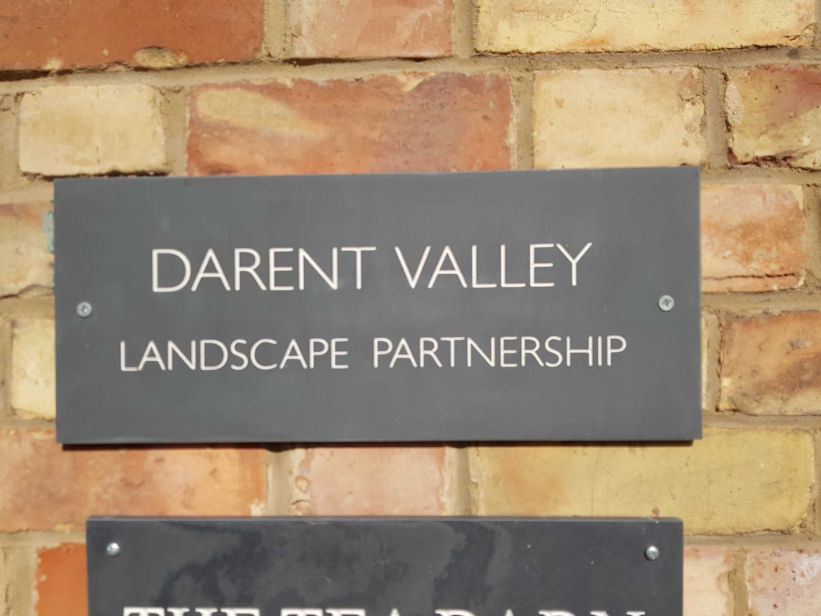 Sign at the Darent Valley Landscape Partnership Offices