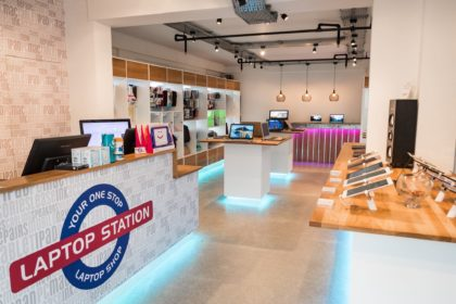 A view inside Laptop Station's store in Eastbourne