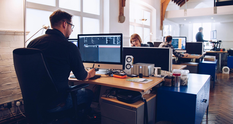 The Huxley Digital Team in our Shoreham Studio