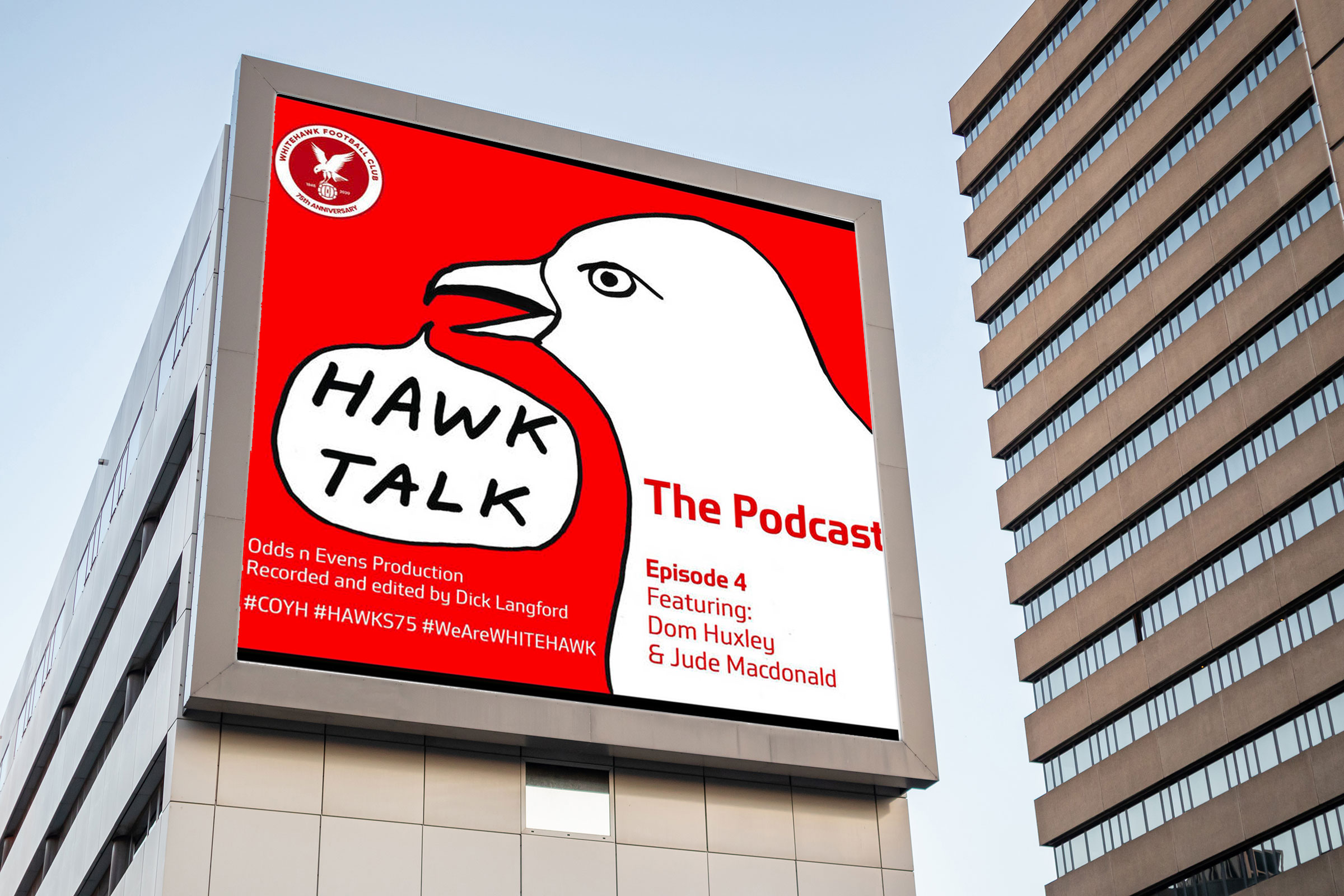 Hawks Talk Podcast billboard.