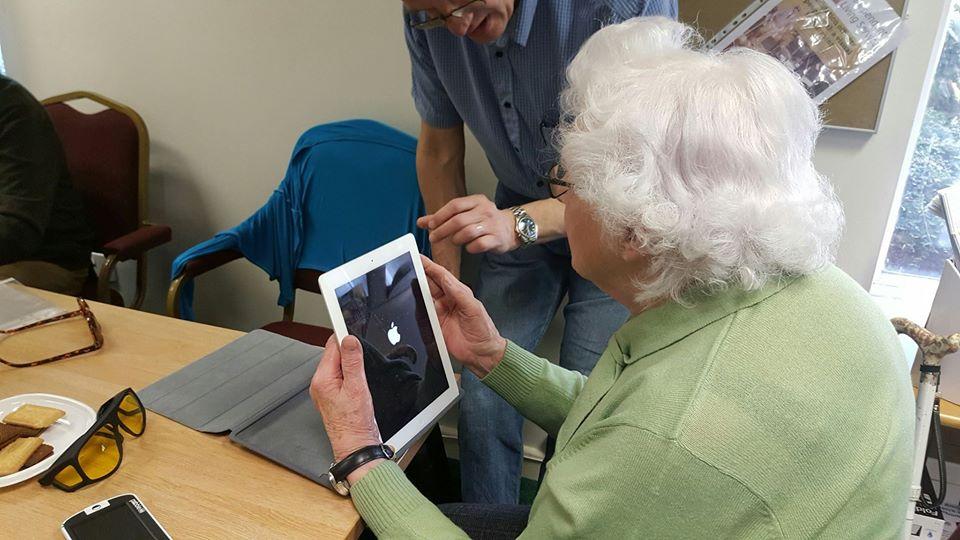 lady using an ipad