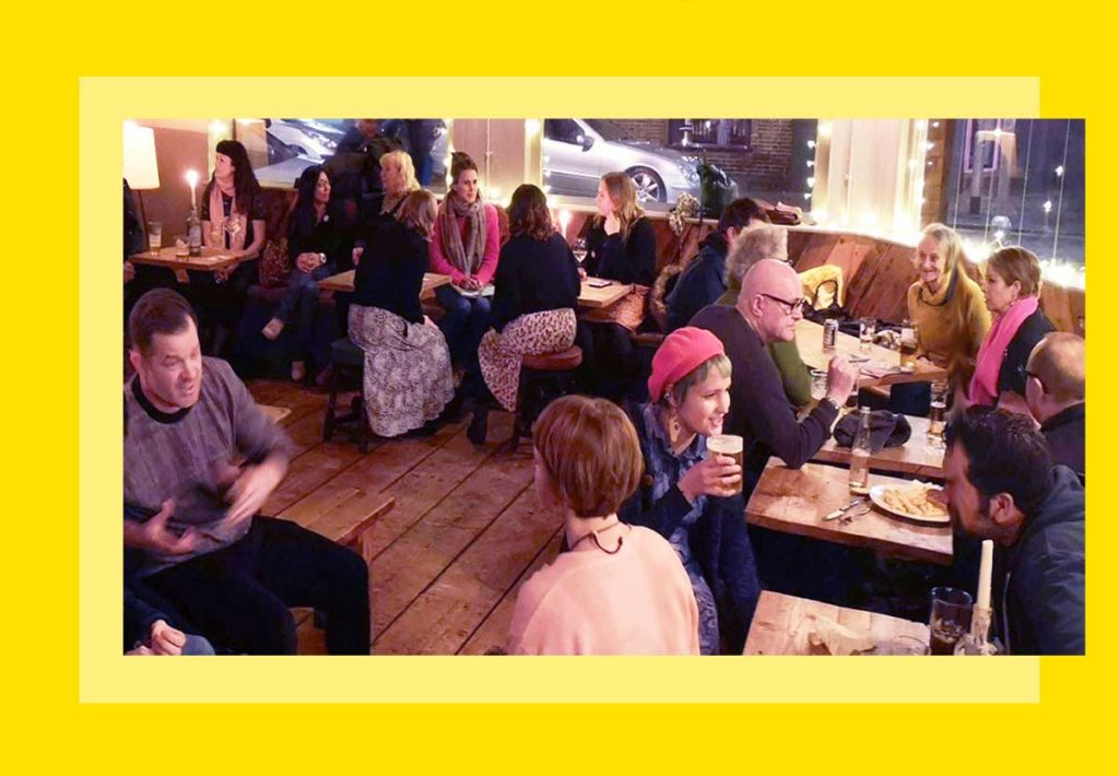 People from the Worthing and Beyond community at a meet-up in Worthing