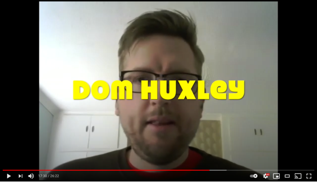 Screenshot of Dom's portrait on the Hawks over Brighton TV show