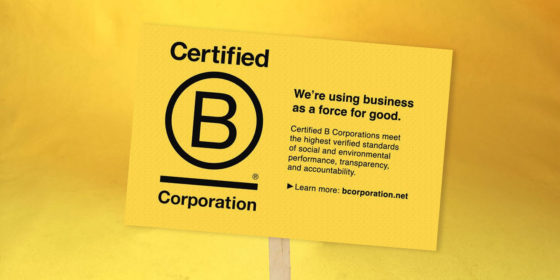 B-Corp Logo and Description