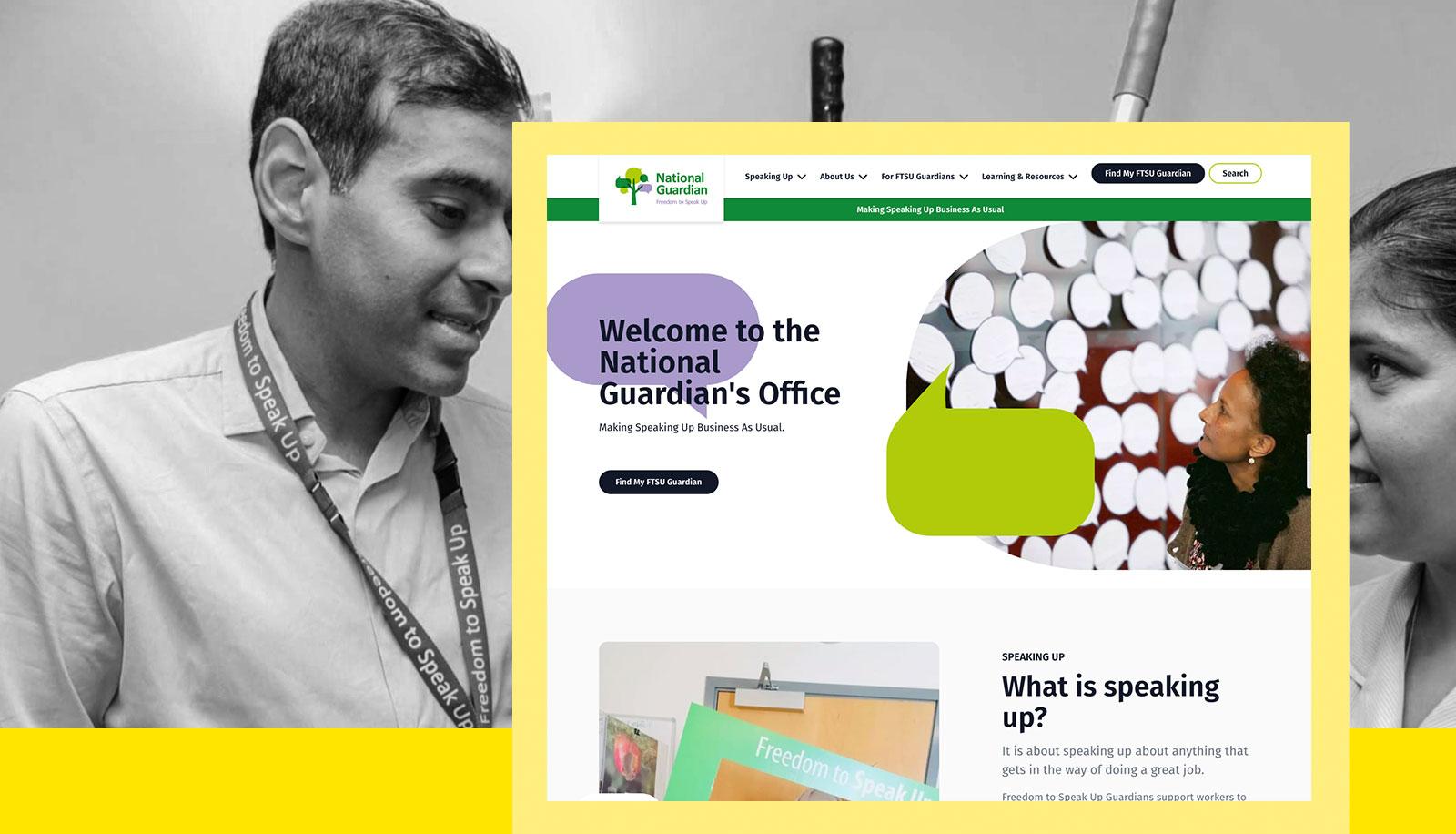 Screenshot of the National Guardian's Office Website