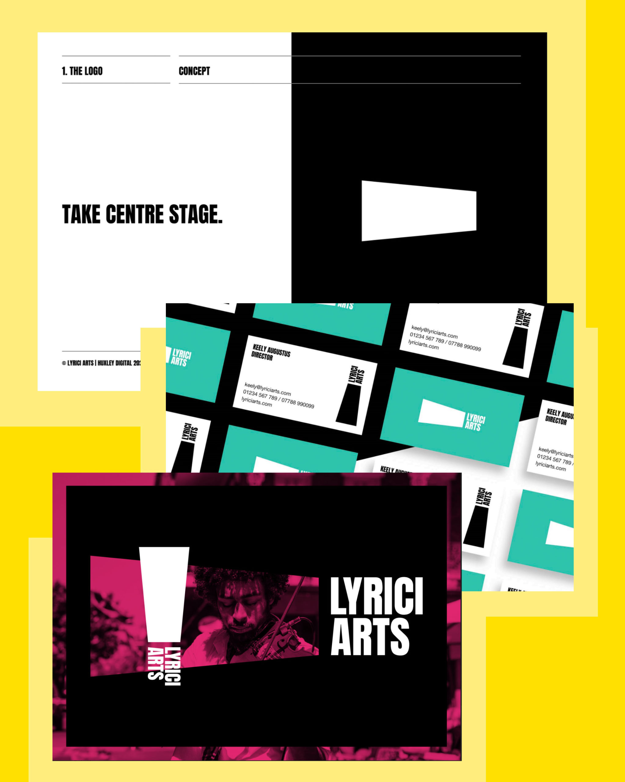 A selection of pages from the Lyrici Brand Guidelines